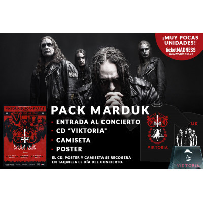 Marduk + Valkyrja + Attic: Incluye CD + Camiseta + Poster