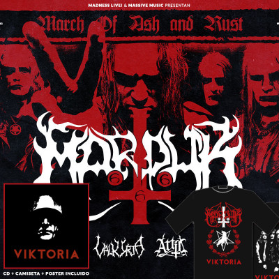 Marduk + Valkyrja + Attic: Incluye CD + Camiseta + Poster