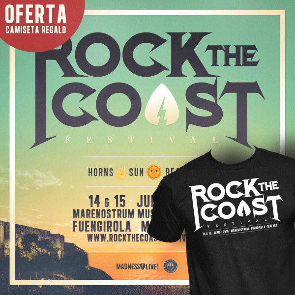 Abono Rock The Coast 2019 + Camiseta regalo (Málaga)