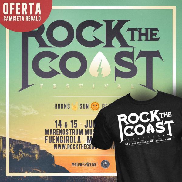 Abono Rock The Coast 2019 + Camiseta regalo (Málaga)