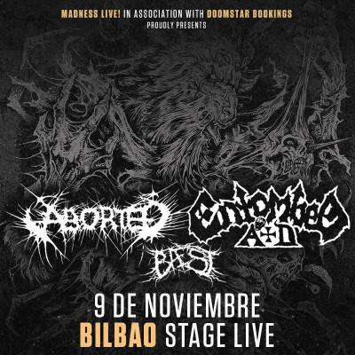Aborted + Entombed AD + Baest (Bilbao)