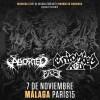 Aborted + Entombed AD + Baest (Málaga)
