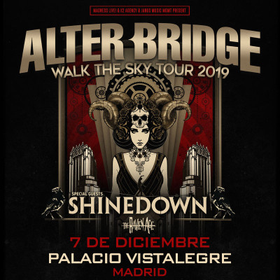 Alter Bridge + Shinedown + The Raven Age (Madrid) PISTA