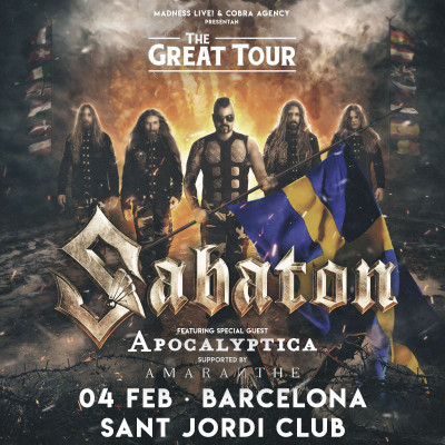Sabaton + Apocalyptica + Amaranthe (Barcelona) PISTA
