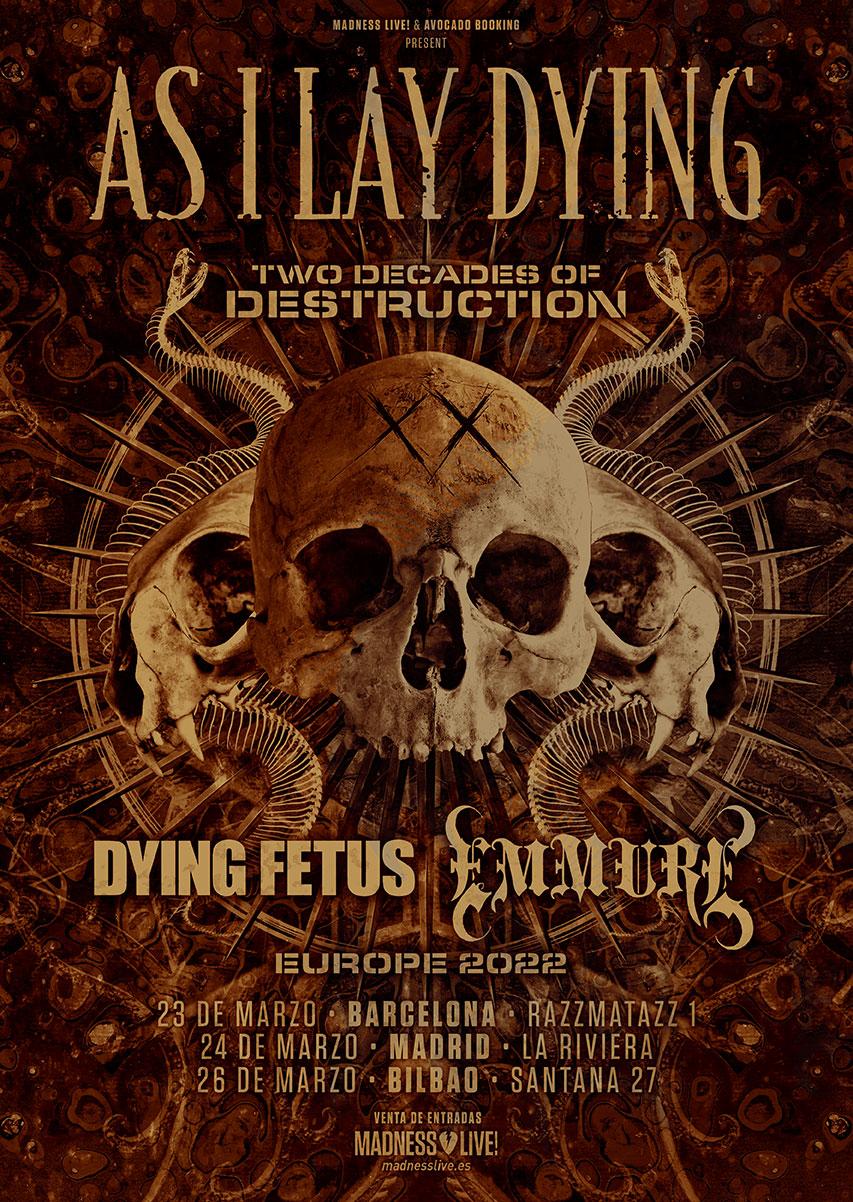 Gira 20 Aniversario De As I Lay Dying Con Dying Fetus Y Emmure