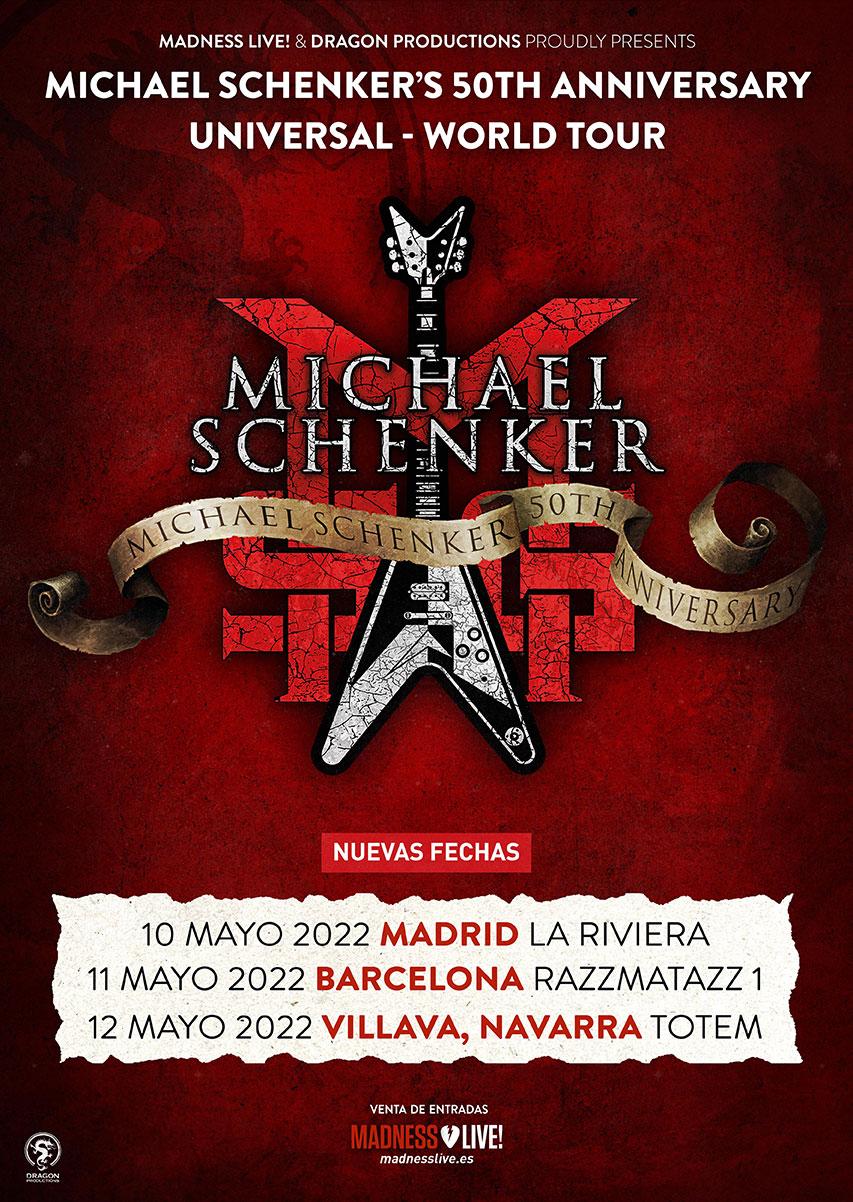 Michael Schenker 50 aniversario 2022